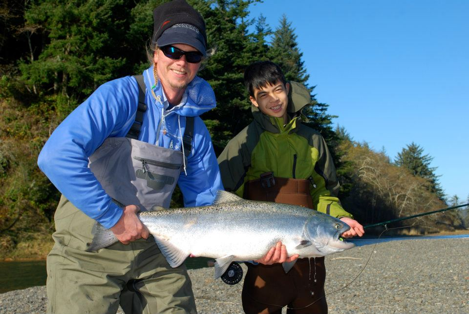 Fall Chinook on the fly